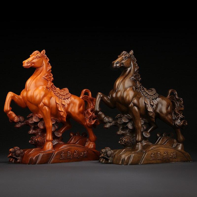Résine créative décoration cheval Statue Sculpture artisanat décoration de la maison salon bureau Statue bureau décor cadeaux d'affaires