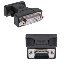 24 + 5Pin DVI Female naar 15Pin VGA Male Kabel Extender Adapter Connector voor voor PC Computer HDTV CRT Monitor projector Converter