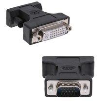 24 + 5Pin DVI dişi 15Pin VGA erkek uzatma kablosu adaptör konnektörü için pc bilgisayar HDTV CRT monitör projektör dönüştürücü
