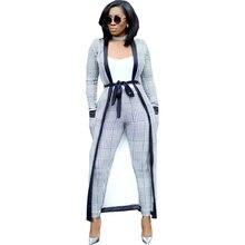2019 Fashion 3 Piece Set Women Top  Pants Long Coat Clothing Sets Moletom Feminino Inverno Boho New Hot Sale