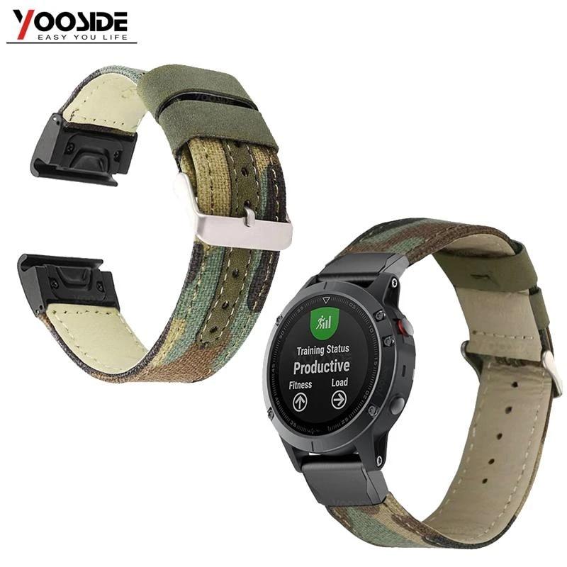 Smartwatch Armband 26mm Camouflage für Garmin Fenix 5s GPS Fitness Tracker