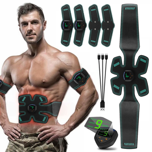 USB Rechargeable Electric Abdominal Muscle Stimulator Slimming Massage Unisex Trainer EMS Exercise LCD Muscle Body Training Gear(China)
