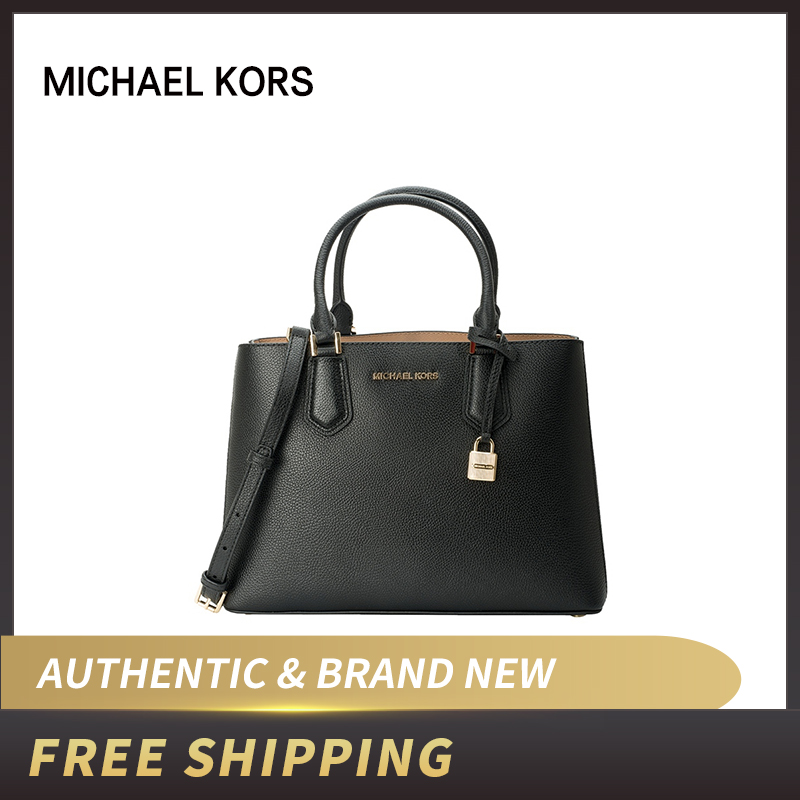 Authentic Original & Brand New Michael Kors MK Adele Luggage Leather Satchel Bag Women's Bag35F8GAFS2L