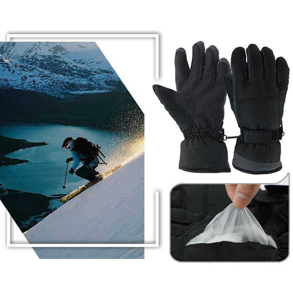 Winter Warm Gloves Water Repellent Ski Gloves Windproof Gloves Sports Windstopper Riding Waterproof Snow Unisex Gloves Outd T3H6