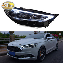 цена на SNCN Car Styling LED Headlight For Ford Mondeo Fusion 2017 2018 2019 LED DRL Start Blue Dynamic Turn Signal Head Lamp Assembly