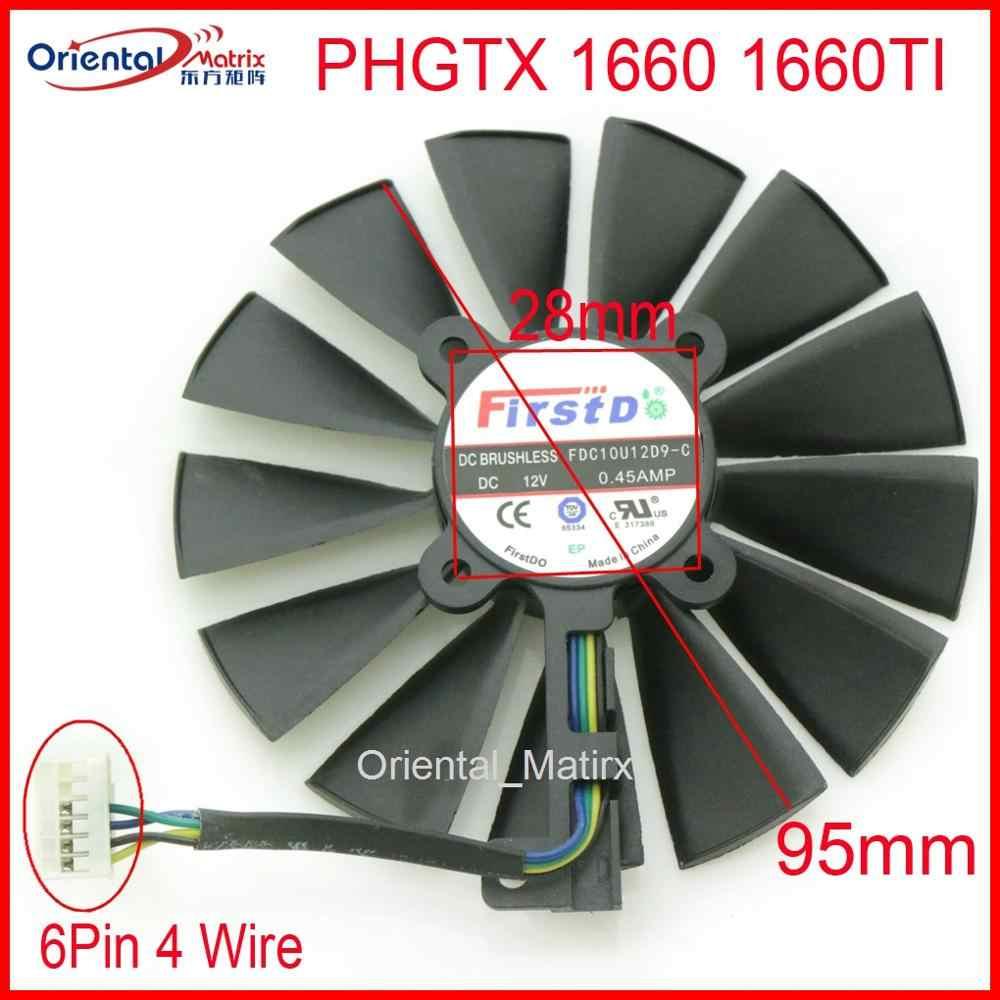 Gratis Pengiriman Asli FDC10U12D9-C 12V 0.45A 95 Mm VGA Fan untuk ASUS ID GTX 1660 1660TI Kartu Grafis Pendingin kipas Angin