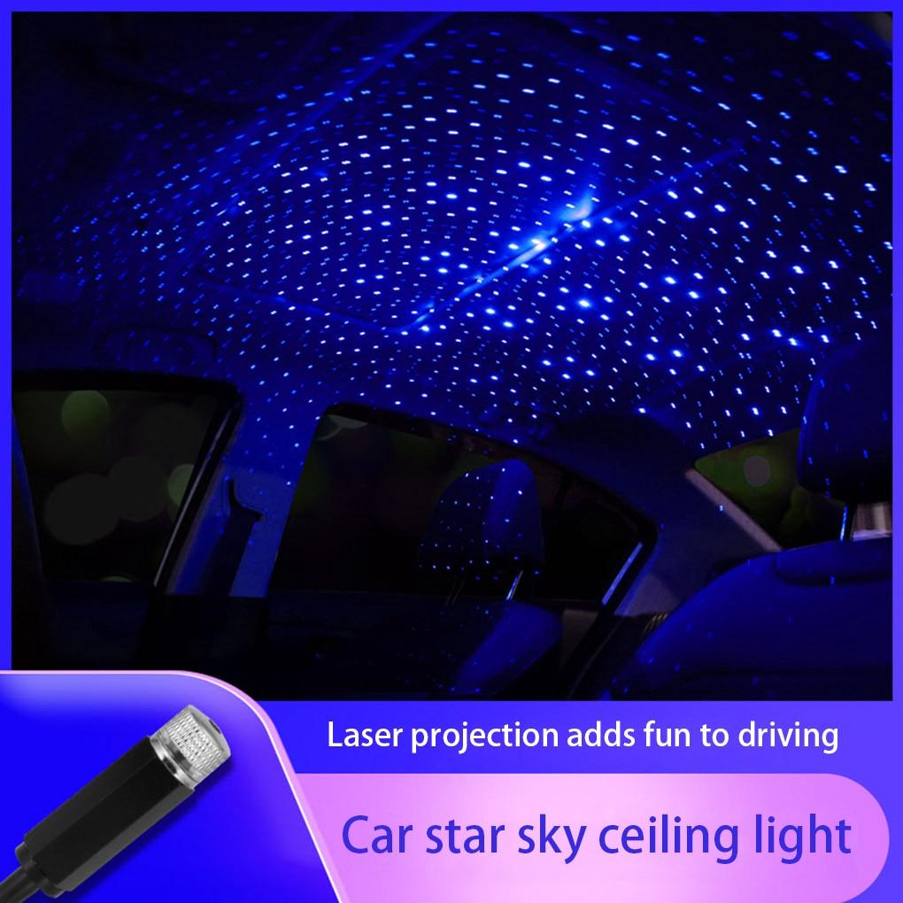 Проекционный USB-светильник на крышу автомобиля, портативный ночник со звездой, регулируемый светодиодный атмосферный светильник Galaxy, потол...
