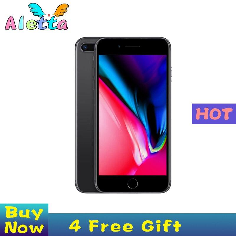Entsperrt Apple iPhone 8 5,5 zoll Gesicht ID NFC ROM 64GB/256GB Smartphone A11 Hexa-core apple Zahlen