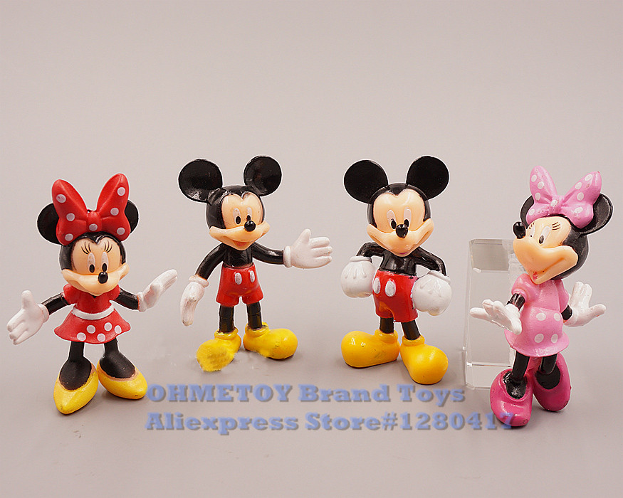 Figurine Walt DISNEY clubhouse Mickey Mouse DAISY DUCK with Petit Cake 2 3//8in