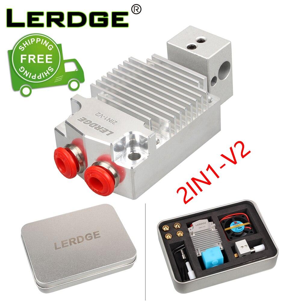 Lerdge 2in1-v2 hontend 2 bocal cor de comutação hotend kit diy 3d peças impressora dupla cor da cabeça impressão extrusora 0.4/1.75mm presente