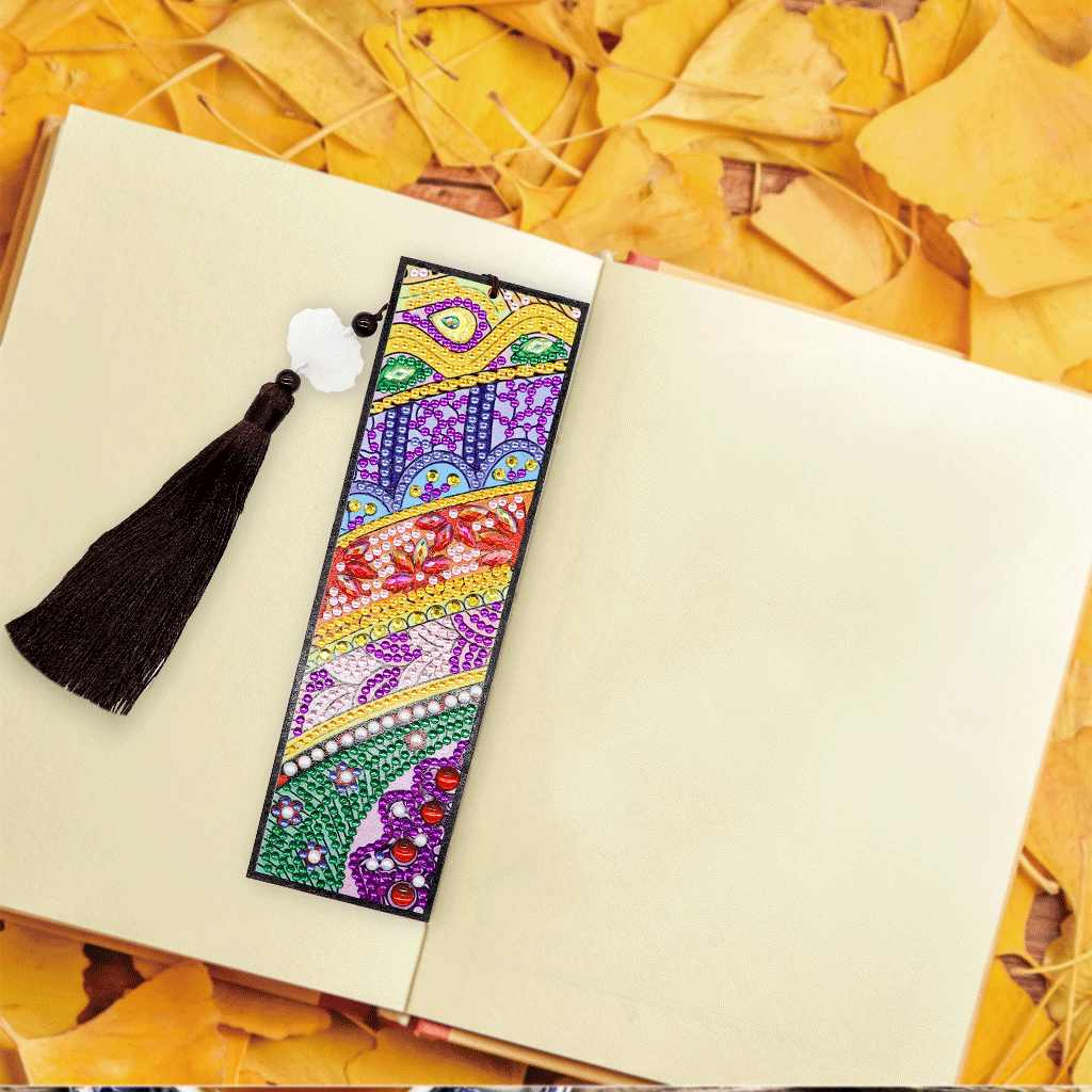 AZQSD especial en forma de diamante pintura flor marcapáginas mosaico de diamantes punto de cruz Mandala borla marcadores DIY