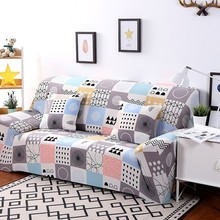 1/2/3/4 Seater Solid Sofa Cover Spandex Modern Elastic Polyester Couch Slipcover Chair Furniture Protector Living Room 24 Colors