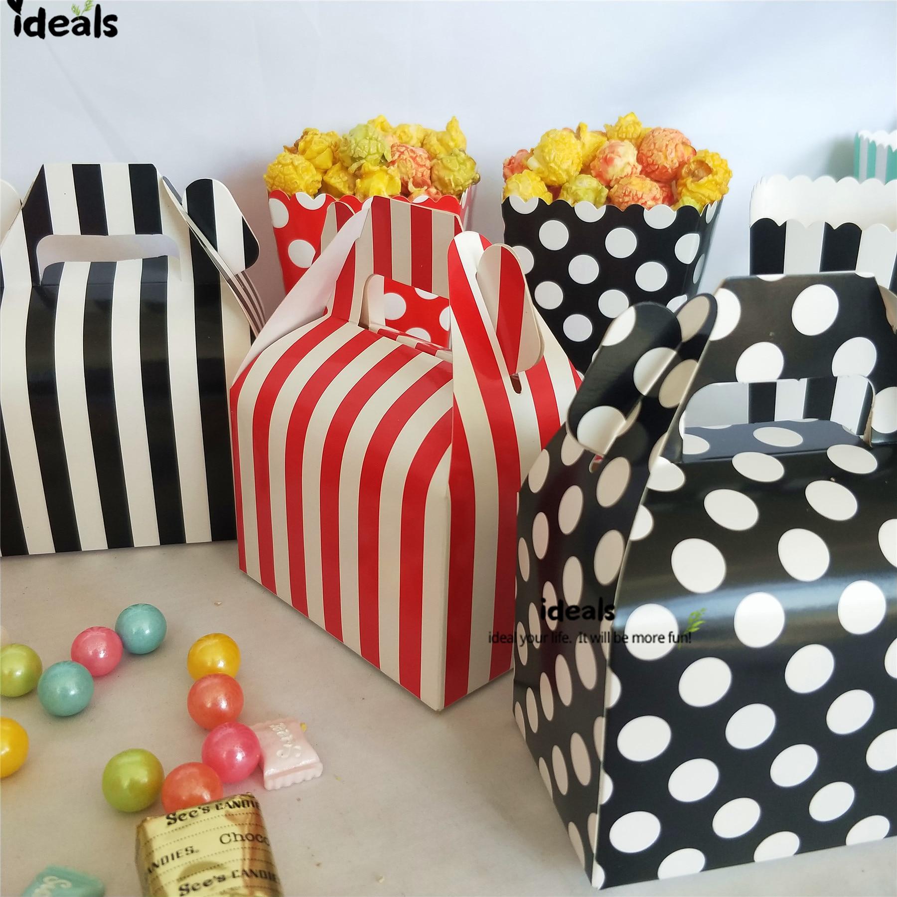 12 x Candy Buffet Rainbow Colours Party Gable Box