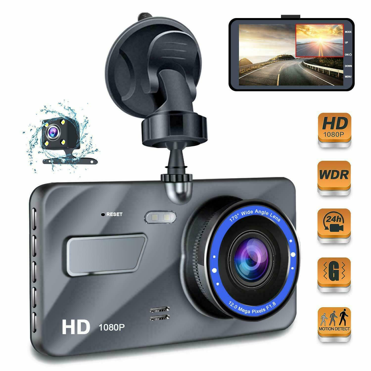 "Full HD 1080P 4"" IPS Car DVR Vehicle Dashboard Camera with Infrared Night Vision Video Recorder G Sensor USB Dash Cam Car DVRs