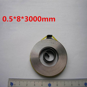 Cheap Flat Small Clock Constant Force Coil Spring Spiral Power Spring, (0.6-0.8)mm Thickness*(5-10)mm Width*(1800-3000)mm Length