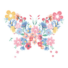 New Heat Transfer Vinyl Flower Butterfly Iron On Patch For Clothing Diy A-level Thermal Stickers On Clothes Striped Easy To Wear