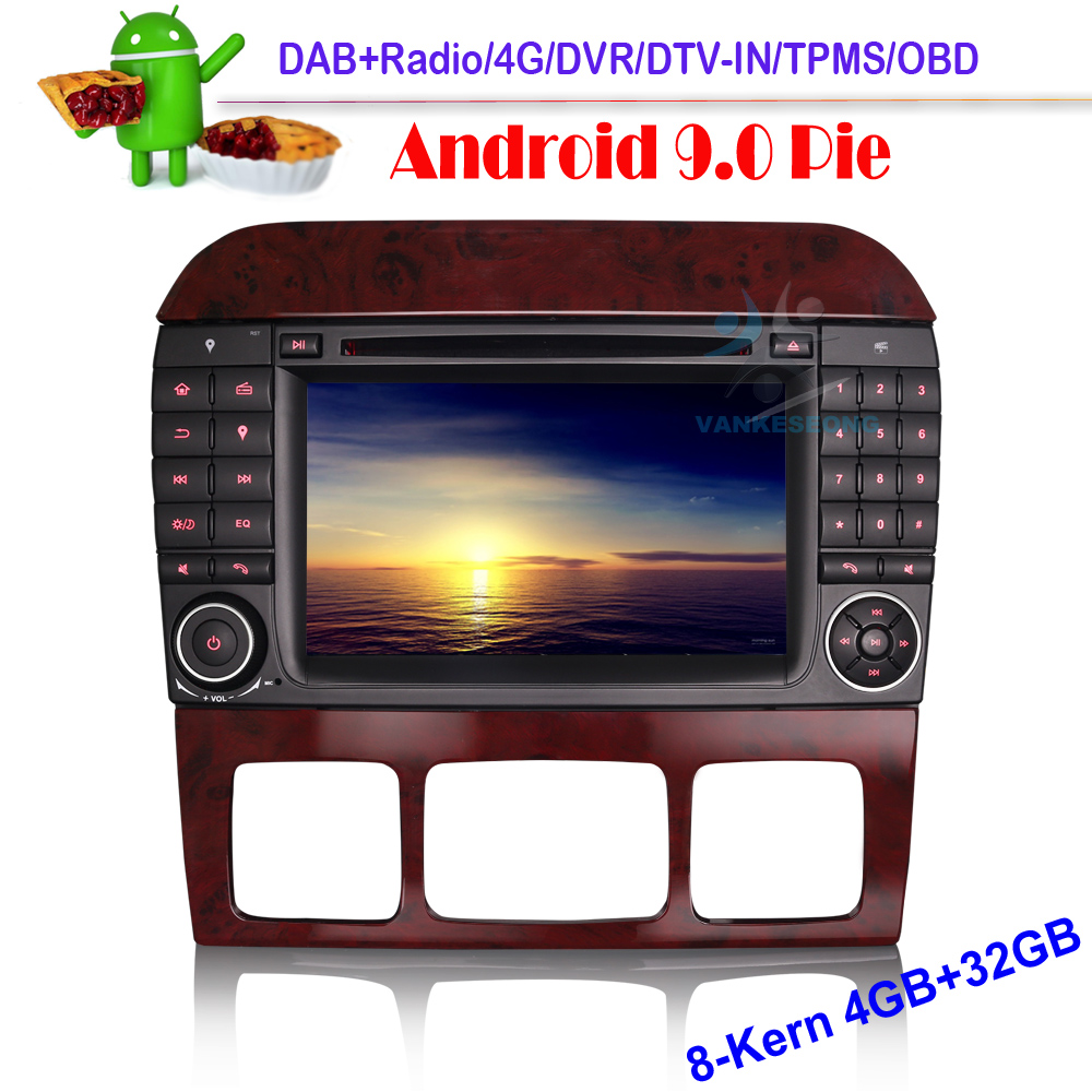 7 Inch 8 Core Android 9.0 Car DVD CD Player DAB Car Radio GPS Navigation for Mercedes Benz S Class W220 CL Class W215 S500|Vehicle GPS|   - title=
