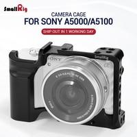 Smallrig kamera klatka dla SONY A5000 / A5100 z otworami do mocowania butów do mikrofonu Monitor dołącz do Vlogging 2226 w Klatki do aparatu od Elektronika użytkowa na