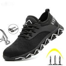 Niezniszczalna konstrukcja ochronne buty robocze buty dla mężczyzn przeciwzmarszczkowe stalowe Toe buty męskie buty budowlane buty ochronne trampki
