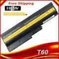 5200mAh bateria do IBM Lenovo ThinkPad R60 R60e R61 R61e R61i T60 T60p T61 T61p R500 T500 W500 SL400 SL500 SL300