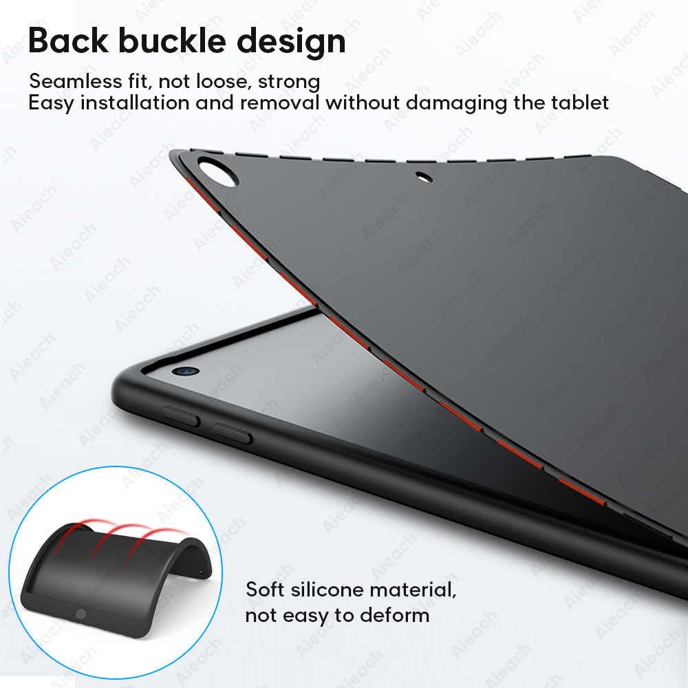 360 غطاء كامل حالة ل البسيطة 5 باد البسيطة 1 2 3 4 حافظة لجهاز iPad البسيطة 5 2019 حالات مع الزجاج المقسى رقيقة لينة سيليكون فوندا