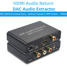 192K Hz ARC Audio Digital Ke Analog HDMI Converter DAC SPDIF Coaxial RCA 3.5Mm Jack Output untuk Amplifier soundbar Speaker(China)
