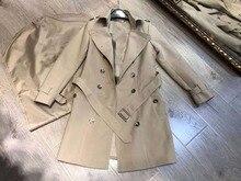 2020 automne nouvelles femmes Vintage col rabattu solide Trench Coat