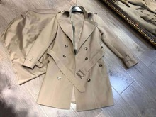2020 סתיו חדש נשים בציר להנמיך צווארון מוצק תעלת מעיל