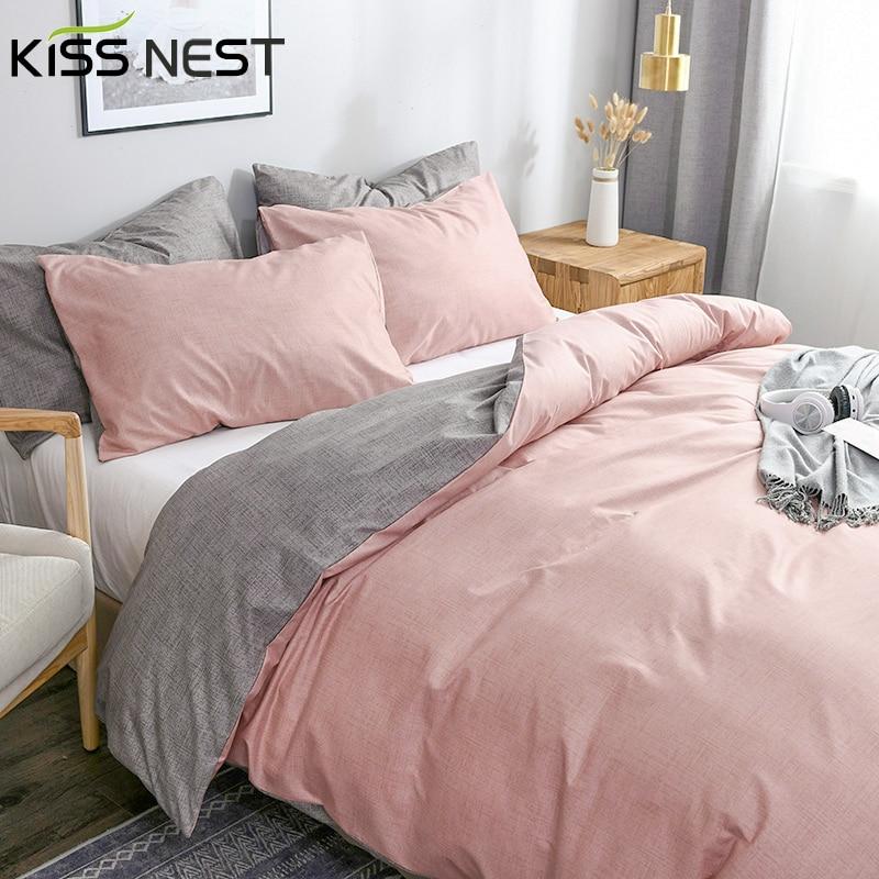 Home Comforter Bedding 3pcs Duvet Cover Set 100% Microfiber Sanding AB side different design 220x240 135x200 decor Textiles
