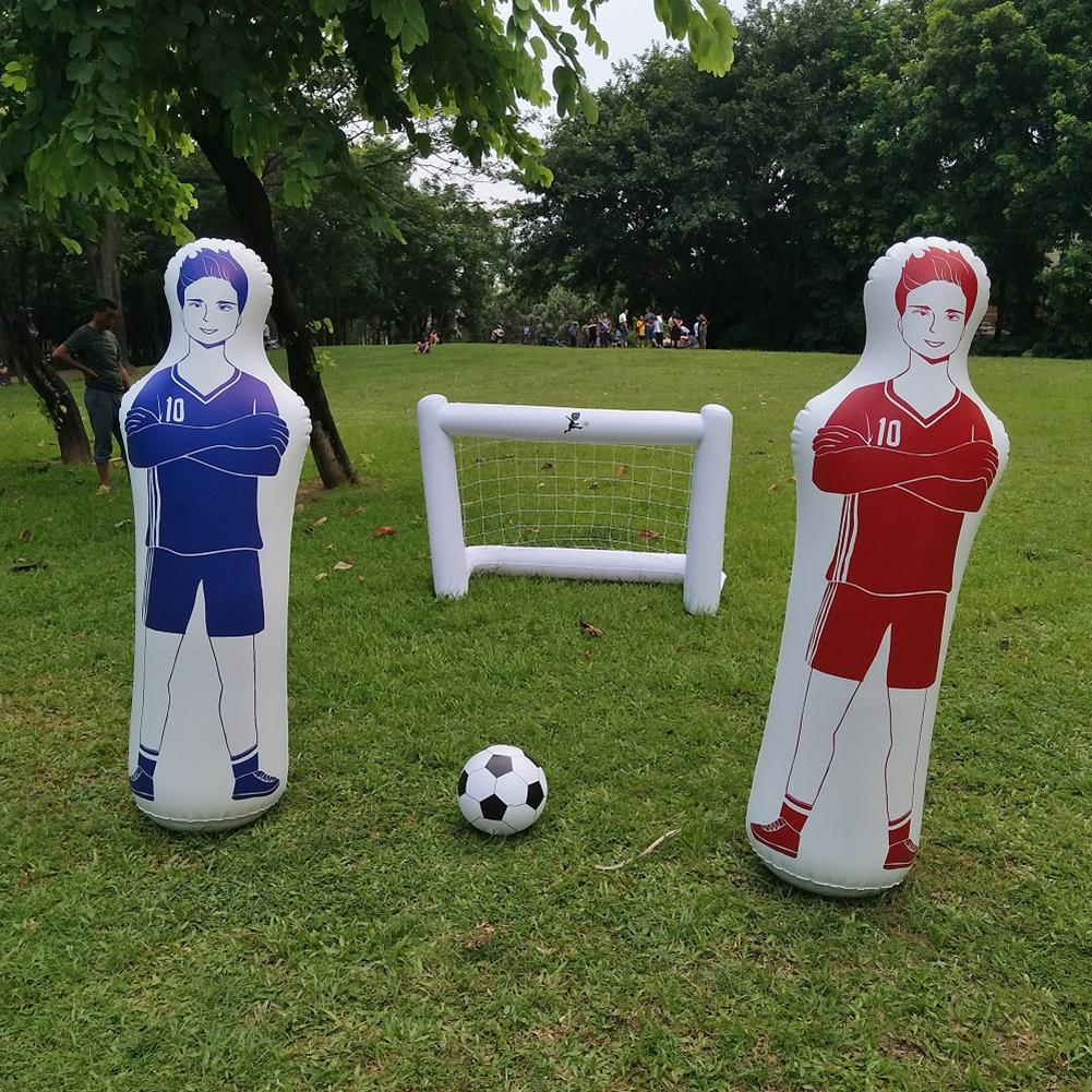 1.6m Adult Children Inflatable Football Training Goal Keeper Tumbler Air Soccer Train Dummy Soccer Training Tools Football Toy 4