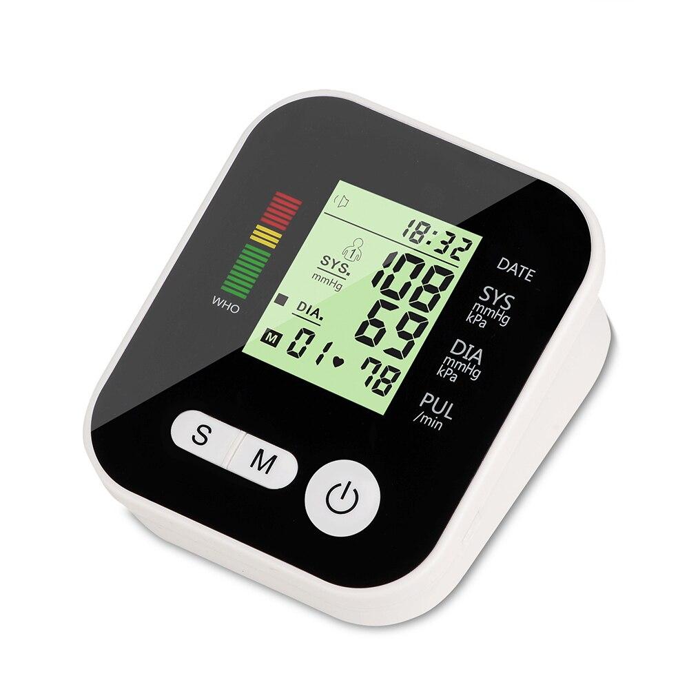 Elektrische Blutdruck Hintergrundbeleuchtung Tonometer Monitor Medizinische Ausrüstung für Mess Herz Schlagen Meter Maschine Drei Farbe Rem