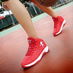 Image 4 - Homem leve tênis de basquete respirável anti derrapante tênis de basquete masculino laço up esportes ginásio ankle boots sapatos cesta homme