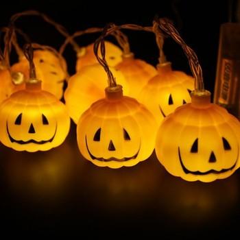 3M 20Lights LED String Lights Waterproof 3D Skull And Pumpkin Halloween Decoration Lights (multicolo