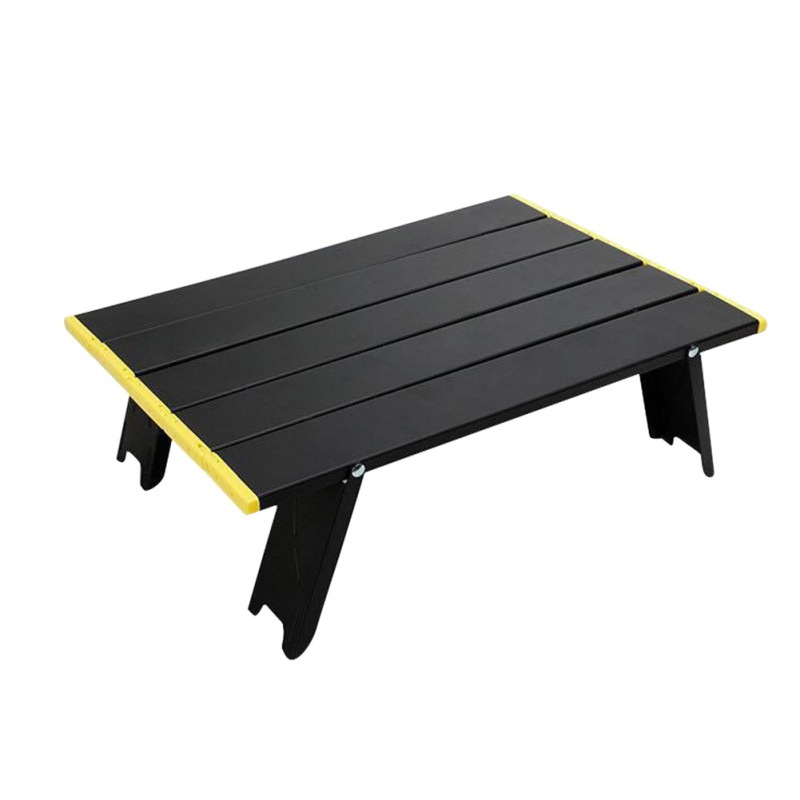 Small Folding Table Outdoor Barbecue Camping Tent Household Bed Collapsible Computer Desk Aluminum Folding Table Open and Fold
