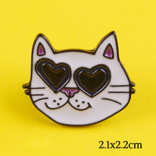 Animal Brooches Cartoon Cat Enamel Pins Lovely Cat Badges Clothes Lapel Pin Jewelry Gifts for Kids Girls Badges on a Backpack F sp044 viking rune hard enamel pins and brooches women men lapel pin backpack bags cartoon anime badges gifts punk jewelry