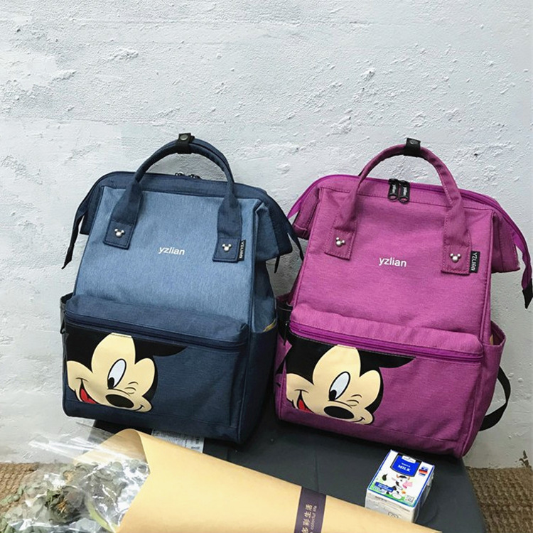 Women  Backpack Large Capacity Mickey Backpack Casual Female Shoulder School Bag Cartoon Ladies Travel Backpack Mochila Feminina