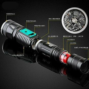 T6 светодиодный фонарик 40000 люмен освещение Масштабируемые режимы 18650 батарея наружный фонарик