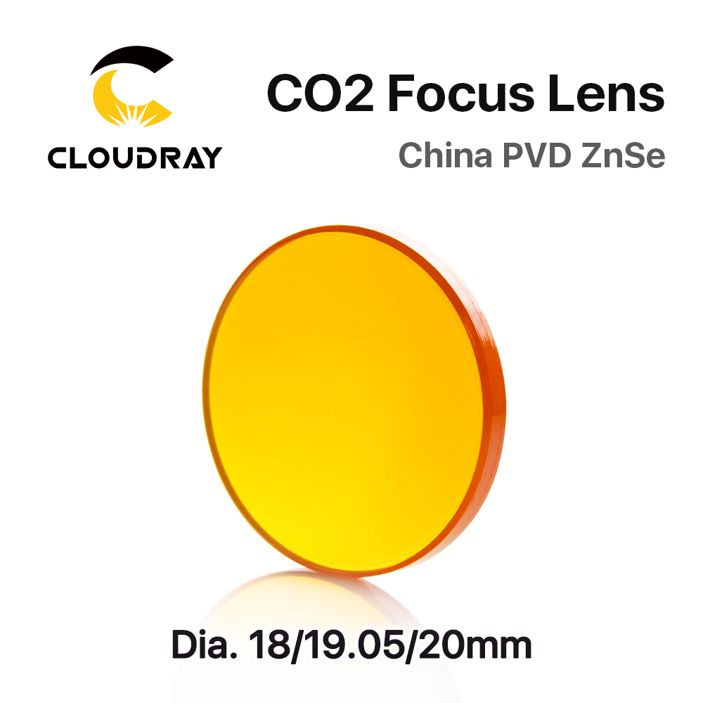 Cloudray china co2 znse lente de foco dia.18 19.05 20 mm fl38.1 50.8 63.5 101.6 127mm 1.5 - 4