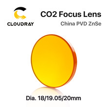 Cloudray çin CO2 ZnSe odak lensi Dia.18 19.05 20 mm FL38.1 50.8 63.5 101.6 127mm 1.5 - 4