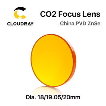 Cloudray China CO2 ZnSe Focus Lens Dia.18 19.05 20 mm FL38.1 50.8 63.5 101.6 127mm 1.5 - 4 for Laser Engraving Cutting Machine fireray co2 laser head set kit 1pcs dia 20mm znse focus lens 3pcs dia 25m mo si mirror 25mm for laser engraving cutting machine