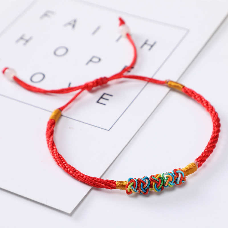 Luck Thread Rope Red Unisex Feng Colourful Chinese Lucky Good Bracelet Shui