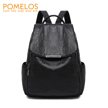 POMELOS Backpack Women Fashion New Soft PU Leather High Quality Designer Small Travel Woman Back Pack