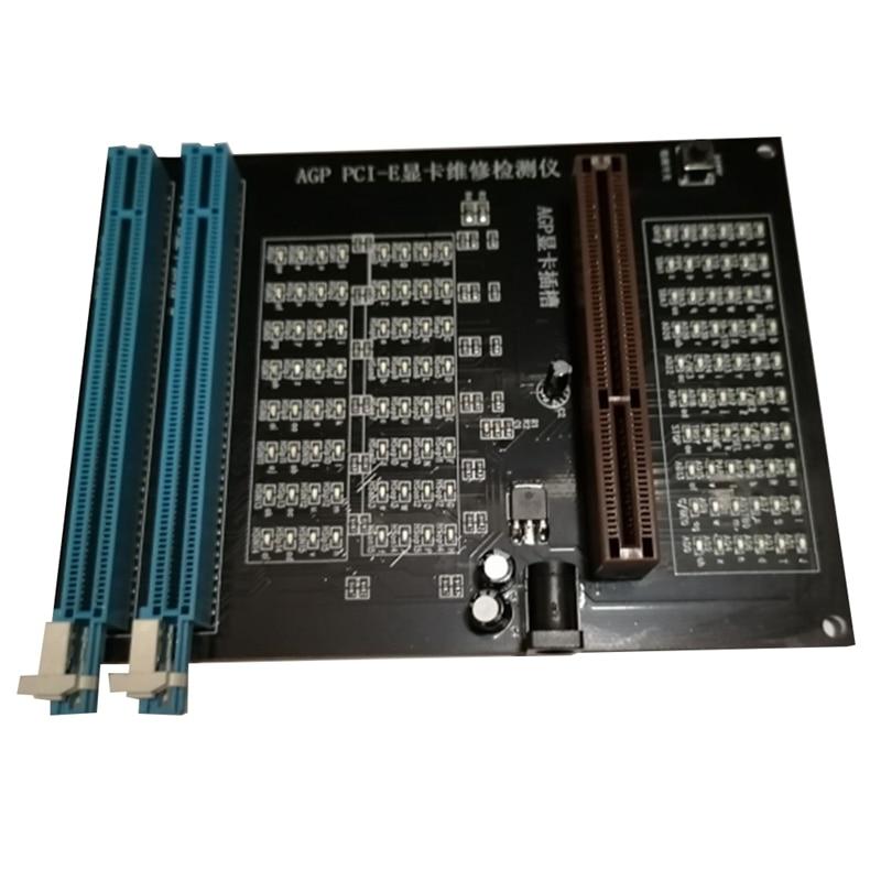 Тестер ПК AGP PCI E X16, двухцелевой измеритель разъема, диагностический инструмент для карт и видеокарт|Искатели автоматических выключателей|   | АлиЭкспресс