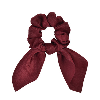 New Chiffon Bowknot Elastic Hair Bands For Women Girls Solid Color Scrunchies Headband Hair Ties Ponytail Holder Hair Accessorie 8