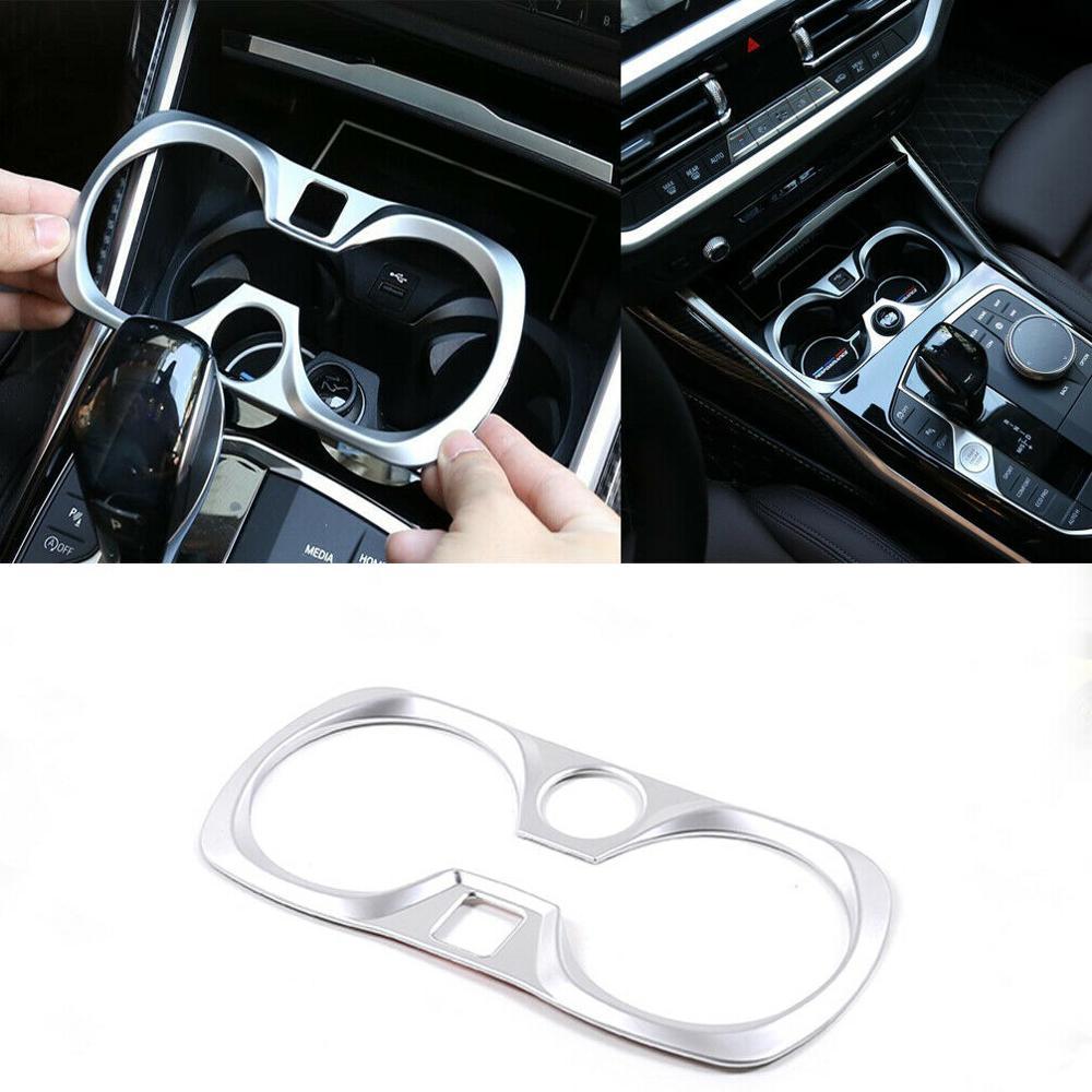 Для BMW G20 G28 2019 Автомобильная внутренняя Центральная рамка держателя стакана воды отделка серебро только LHD