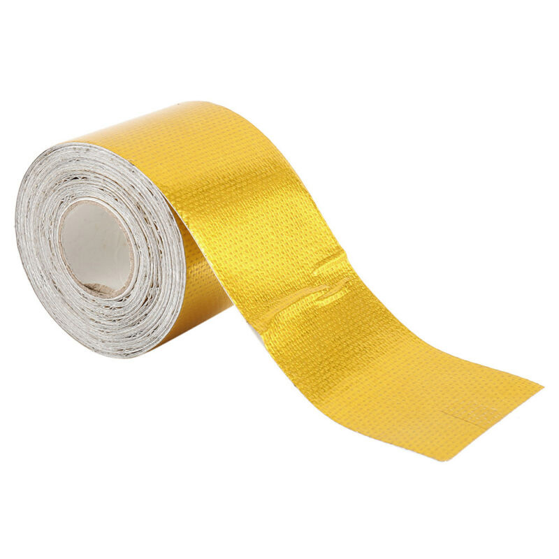 1200°f Self-Adhesive Reflective Gold Heat Shield Tape For Thermal Racing Engine
