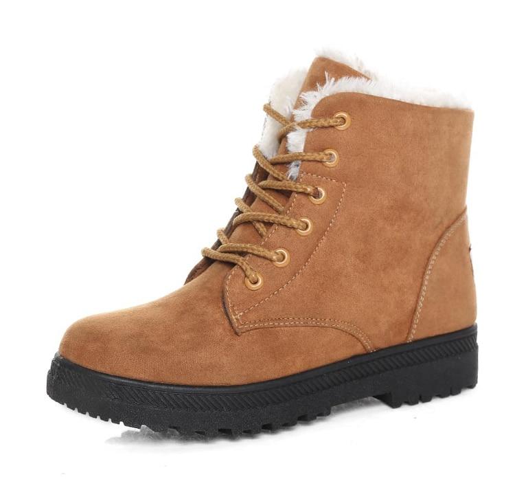 mulheres sapatos de inverno com pele botas
