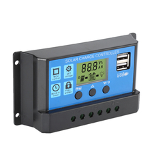 Solar Charge Controller 12V 24V 50A 40A 30A 20A Automatic Solar Panel Controller Universal USB 5V Charging LCD Display epever bluetooth ble box tracer2210cn 20a 20amp charging solar controller usb cable high efficiency
