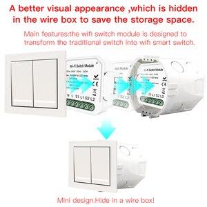 Image 5 - Akıllı ev için Wifi ışık anahtarı Diy modülü akıllı yaşam/Tuya APP uzaktan kumanda, çalışma Alexa Google ev ile 2 Gang 2 yollu.