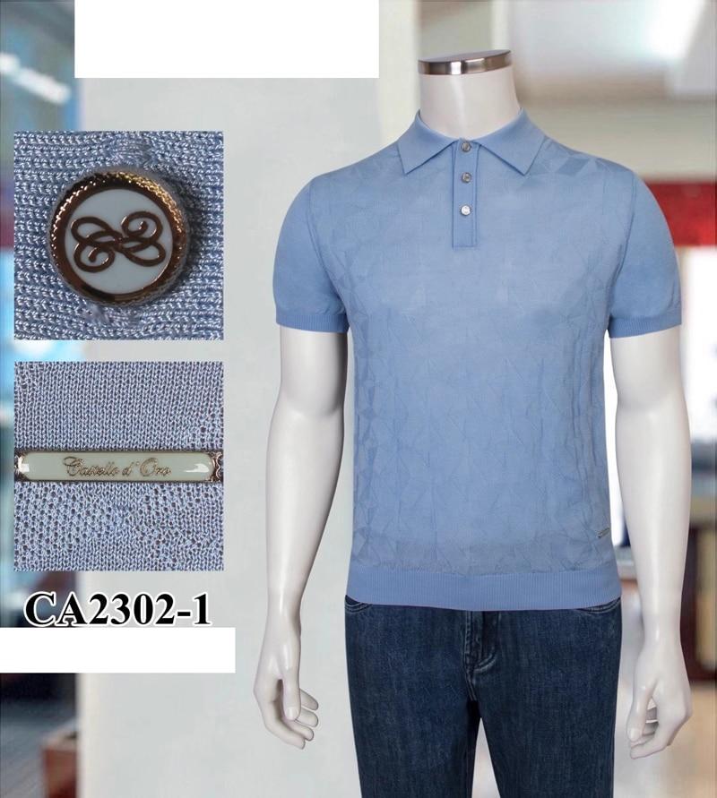 Billionaire Polo shirt men's silk 2021 Short sleeve summer new fashion Breathable elasticity button big M-4XL free shipping